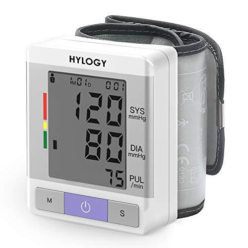 HYLOGY Blutdruckmessgerät Handgelenk Vollautomatische Professionelle Blutdruk-und Pulsmessung 2 * 90 Speicherplätze LCD Großem Display und Tagbare Aufbewahrungsbox, Mehrweg