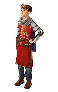 Rubies 640060 - Disfraz oficial de King Arthur para niños, para la semana del libro, para niños de 9 a 10 años, multicolor (talla XL)