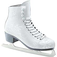 L.A. Sports adulti pattini da pattinaggio scarpe pelle PVC, Bianco/Grigio, 42–43, 13662–43