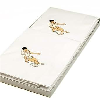 "Mouchoirs en tissu brodés ""Wimbledon"" - 41cm x 41 cm - x 2"