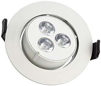 SLV Triton 3GIMBLE Downlight, rond, blanc chaud 3x 1W LED, orientable,/mattweiß 113602