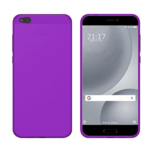 TBOC® Lila Gel TPU Hülle für Xiaomi Mi 5c - Mi5c (5.15 Zoll) Ultradünn Flexibel Silikonhülle