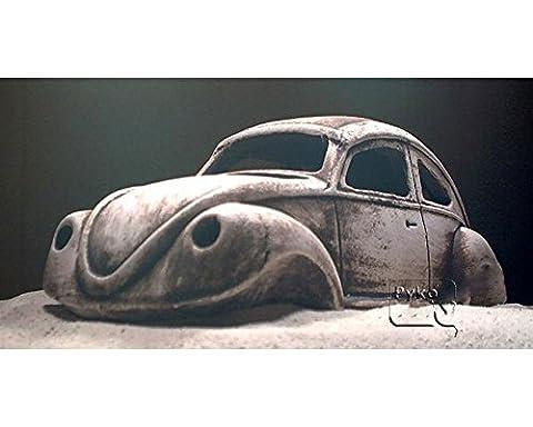 Deko Aquarium Käfer Höhle Steine Sand Fische Keramik Dekoration Schrot Auto DDR Beetle