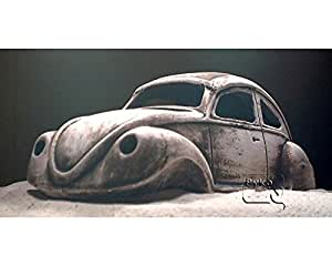 deko aquarium k fer h hle steine sand fische keramik dekoration schrot auto ddr beetle amazon. Black Bedroom Furniture Sets. Home Design Ideas