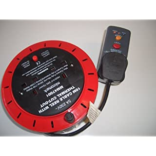 10m Cable Reel with RCD and Thermal Cut Out 2 Gang Extension Lead