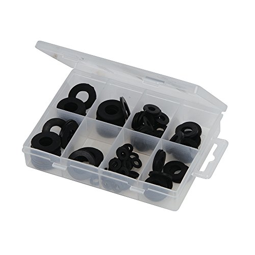 Fixman Gummischeiben-Sortiment, 120-teilig, 1 Stück, schwarz, 961227 (Schwarze Waren)