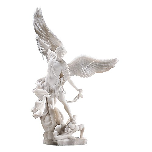 design-toscano-st-michael-the-archangel-bonded-marble-angel-statue