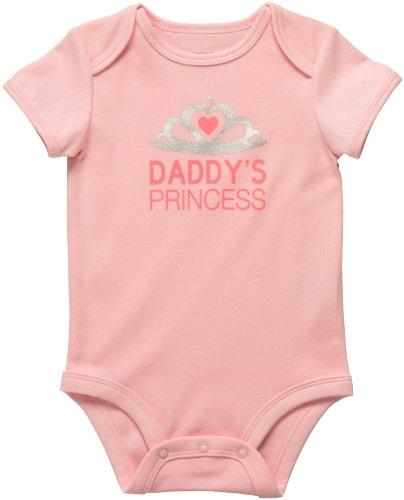 Carters Baumwolle Bodys (Carter's Body für Mädchen Sommer Spieler Unterwäsche girl onesie Daddy (24 Monate, rosa))