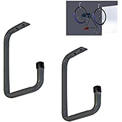 2 x Crochets de Rangement pour Vélos 160mm Montés sur Plafond, pour Garages Hangars, Supports de Cycle