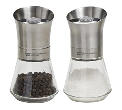 T&g Woodware Crushgrind® Tip Top Stainless Steel Salt & Pepper Mills from T&G Woodware
