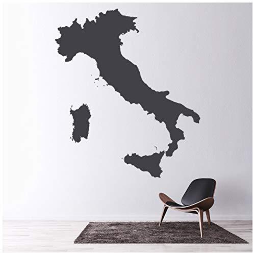 azutura Italia Adesivo Murale Mappa educativa Adesivo Da Parete Ufficio Scolastico Home decor disponibile in 5 dimensioni e 25 colori Extra-Small Bianco