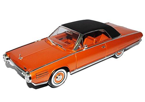 Lucky Die Cast Chrysler Turbine Car Turbinenauto Coupe Orange Braun 1963 1/18 Yatming Modell Auto