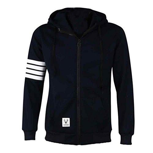 Coversolate Moda hombres Hoodies marca deportiva traje de alta calidad Hombres sudadera con capucha casual Zipper chaqueta con capucha hombres (M, Armada)