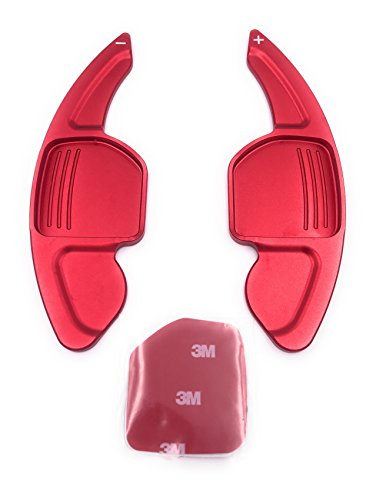 H-Customs DSG Schaltwippen Shift Paddle Alu eloxiert Rot 2012+ A3-A6 S,RS,Q Typ A