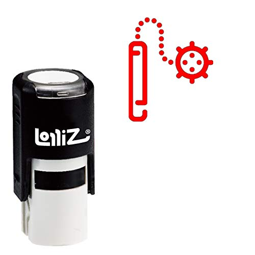 LolliZ Modern Symbol Series - Combat Flail Self-Inking Rubber Stamp