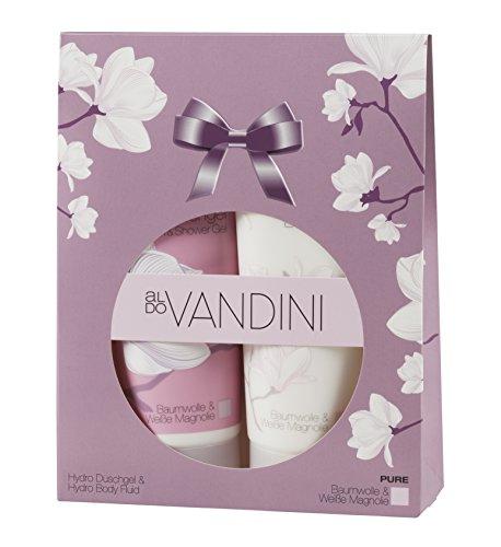 aldoVANDINI PURE Geschenkset, Lotion & Duschgel mit Magnolienduft, für Frauen, vegan - 1 er Pack (1 x 1 Set)