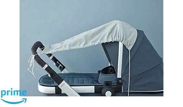 UV-Sonnenschutz f/ür jeden Kinderwagen L/änge: 65 cm Breite oben: 50 cm Breite unten: 32 cm KraftKids Sonnensegel gelbe Dreiecke handgen/äht und luftdurchl/ässig