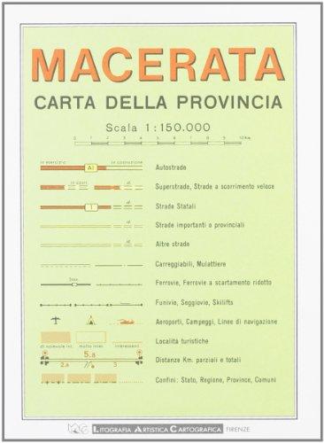 Macerata. Carta stradale della provincia 1:150.000