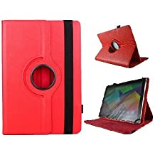 "Funda Giratoria para Tablet Bq Aquaris E10 10.1"" - ROJO"