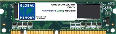64MB DRAM SODIMM ARBEITSSPEICHER RAM FÜR CISCO MC3810-V3 ROUTER (MEM-DIM-1X64D)