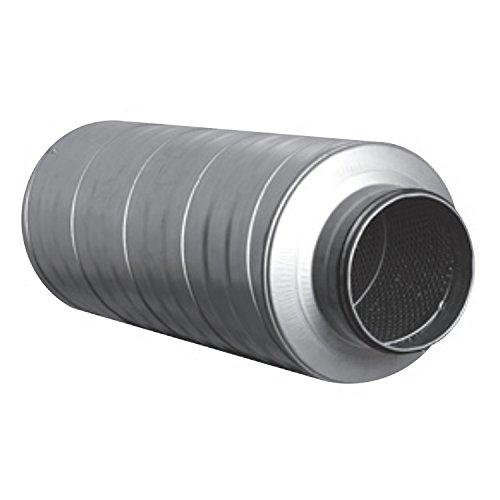 Telefonieschalldämpfer Schalldämpfer Wickelfalzrohr Lüftung Rohr 100 mm Dämmung DN 125 - 600 mm