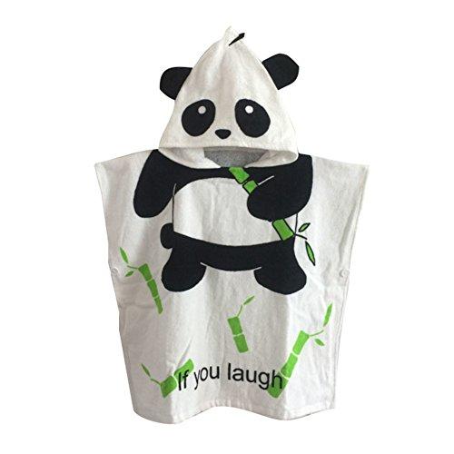 (Kapuzenponcho Kinder Handtuch 100% Baumwolle Jungen Mädchen Kapuzenponchos Schwimmen mit Tiermotiv Poncho Towel Strand 0-6 Jahre Panda)