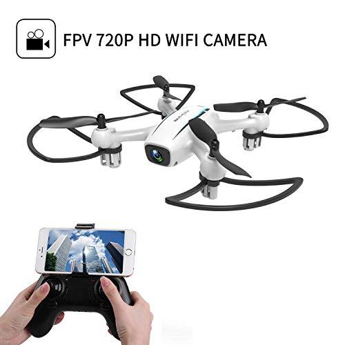 JHSHENGSHI Drohne mit Kamera HD RC Quadrocopter Helikopter Ferngesteuert mit FPV 720P Kamera Navigation, Live-Video usw, Drohne Outdoor für Kinder, Erwachsene und Anfänger