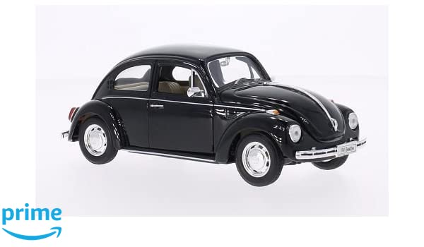VW Maggiolino 1969 nero modello di auto Welly 1:24