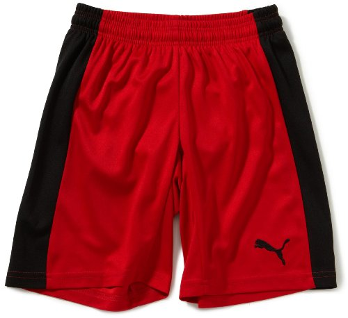 PUMA Kinder Hose PowerCat 5.12 Shorts with Inner Slip Red-Black, 164