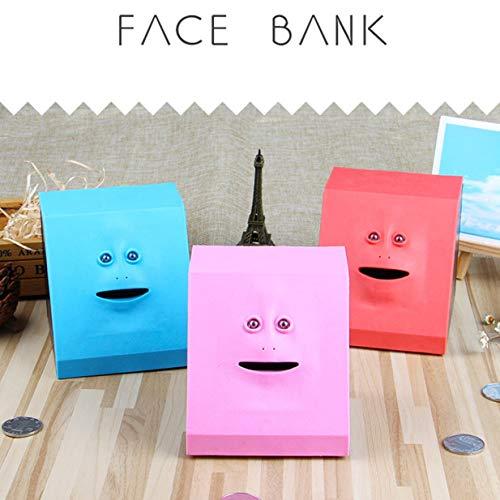 banbie8409 Geld Essen Face Box Nette Facebank Piggy Coins Bank Lustige Geld Münze Sparkasse Kinder Spielzeug Geschenk Dekoration
