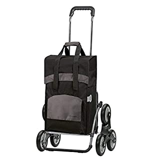 Andersen Shopping trolley Royal with bag Holly black, Volume 49L, steel frame and stair-climbing wheels