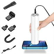 Honeytecs 120W Handheld Car Home Vacuum Lightweight Portable Auto Vacuum Wet Dry Cleaner (White)