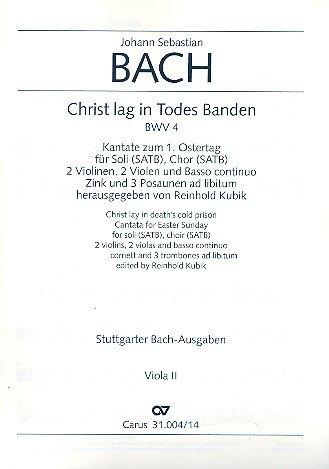 Bach, Johann Sebastian: Christ lag in Todesbanden Kantate Nr.4 BWV4 Viola 2 (Viola 4 2)