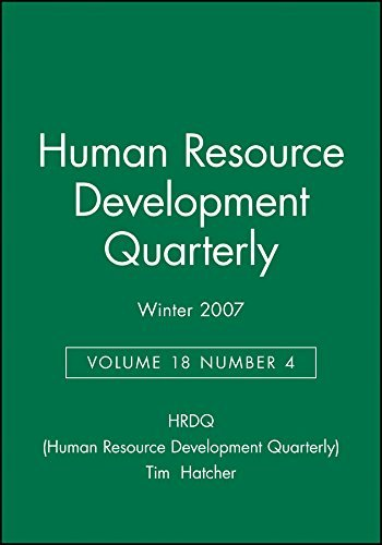 Human Resource Development Quarterly Winter 2007: No. 4, v. 18 (J-B HRDQ Single Issue Human Resource Development Qarterly) by HRDQ (Human Resource Development Quarterly) (2008-08-04)