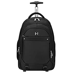 S-ZONE Fashion Oxford Business Trip Travel Wheeled Backpack Rolling Carry on Luggage Travel Duffel bag