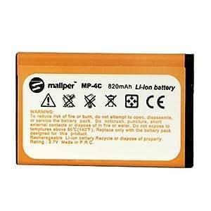N5 820mAh mallper batterie haute capacité Li-ion pour Nokia BL-4c / 2650/6100/6101/6300/6131/6125/7200/7270/6260