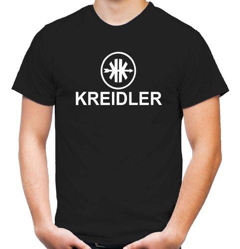 Preisvergleich Produktbild Kreidler Logo T-Shirt   Moped   Kult   Fun   Männer   Herren   Fahrzeugbau   Mofa   Mokick   Leichtkrafträder   Kleinkrafträder   Anton   Pan (L)