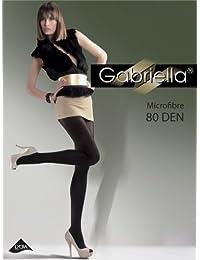 Gabriella Blickdichte Strumpfhosen Bunte Feinstrumpfhose Microfaser 80 DEN in Schwarz, Rot, Grau, Dunkelblau, Grün, Braun, Weiß, Lila usw.