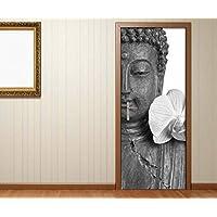 T/üraufkleber Buddha Statur Buddhismus T/ür Bild T/ürposter T/ürfolie Druck Aufkleber 15A2325 T/ürgr/össe:67cmx200cm