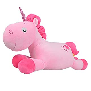Aardvark Art Unicorn Plüschtiere Soft Pillow Dekokissen Einhorn Plüsch Spielzeug (Pink)