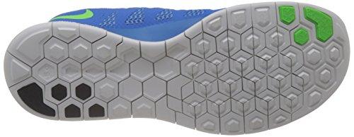 Nike Free 5 0, Chaussures de running mixte adulte Bleu (Photo Blue/Electric Green-University Blue)