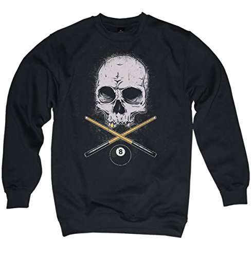 NG articlezz – Pullover – Billard Skull Oldschool Gr. S-3XL