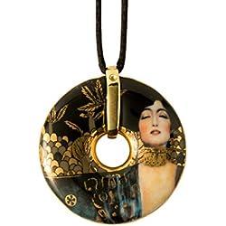 Goebel, Porzellan-Kette, Gustav Klimt, Vergoldet, Textilband mit Verschluss, Ø 5 cm, 66989591