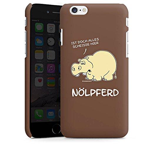 Apple iPhone 6 Silikon Hülle Case Schutzhülle Nilpferd Lustig Nölpferd Premium Case matt