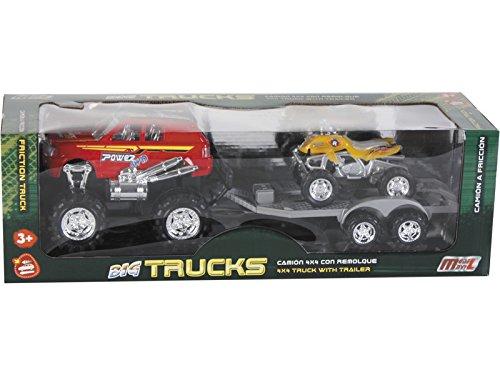 MODELMOVIL Sortiment All Terrain Vehicle mit Anhänger und Quad 52x15x15cm
