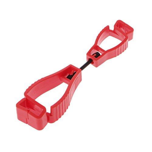 Handschuh Clips, yunso Handschuh Grabber Guard Arbeit Sicherheit Clip Handschuh Keeper für Sicherheit Arbeit, rot (Handschuh-clips Erwachsene Für)