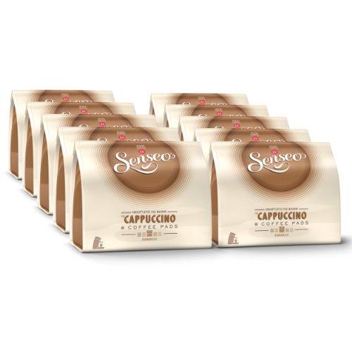 Senseo Cappuccino, Nuevo Diseño, Nueva Receta, Paquete de 10, 10 x 8 Monodosis