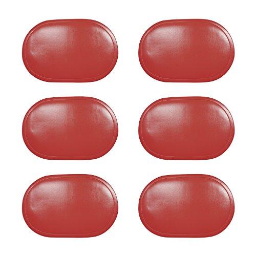 Saleen Tischset, Kunststoff, oval, 45x30cm, Farbe:rot, Stück:6 Stück