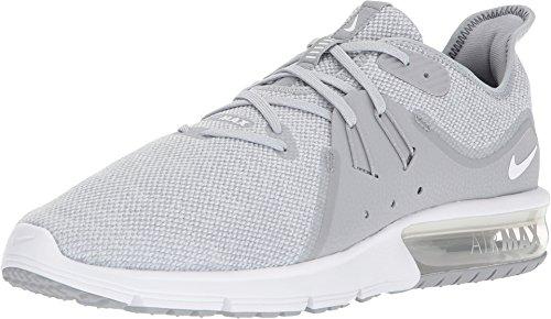 NIKE Men's Air Max Sequent 3 Running Shoe Wolf Grey/White/Pure Platinum (8.5 D US) (Hi-top-tennis-schuhe)