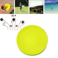 Jxh-Life Zip Frisbee Chip Spin On The Game of Catch Mini Pocket Flexible Soft New Spin in Catching Game Flying Disc